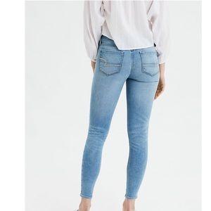 AEO Super Stretch Light Distressed Jegging Jeans
